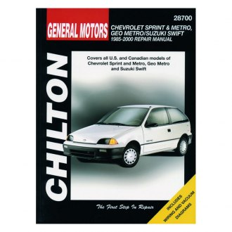 Chilton® - General Motors Sprint/Metro/Geo Metro/Suzuki Swift Repair Manual