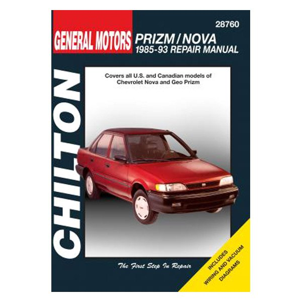 Chilton 28760 General Motors Prizm Nova Repair Manual