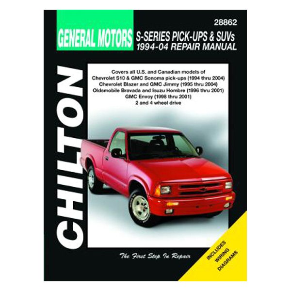 chilton 28862 general motors s10 s15 sonoma syclone pick ups rh carid com wiring diagram for 1995 silverado Channel 6 D S Ph11 RR Amp Wiring Diagram for A