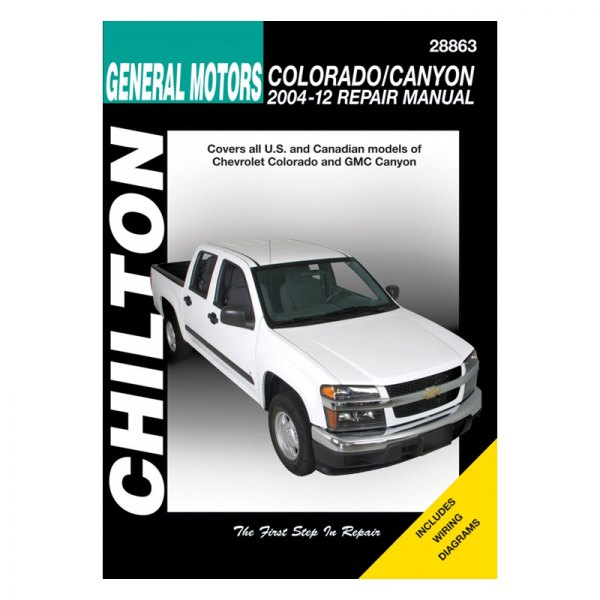 chilton 28863 general motors colorado canyon repair manual