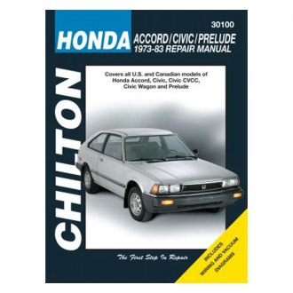 Chilton® - Honda Accord/Civic/Prelude Repair Manual