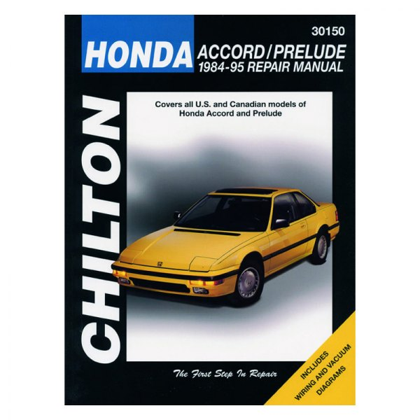 chilton 30150 honda accord prelude repair manual rh carid com 1990 Honda Prelude 1991 Honda Prelude White