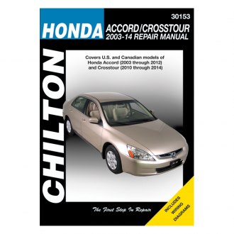 Chilton® - Honda Accord/Crosstour Repair Manual