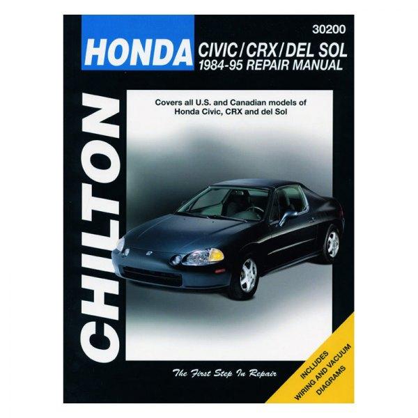 chilton 30200 honda civic crx del sol repair manual rh carid com Honda Civic Parts Honda Civic Manual Water PU
