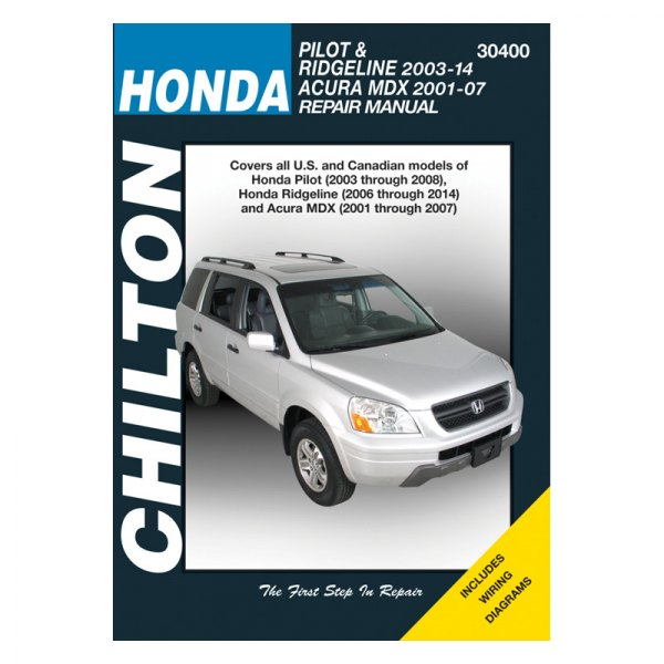 Honda Pilot/Ridgeline/Acura MDX Repair Manual