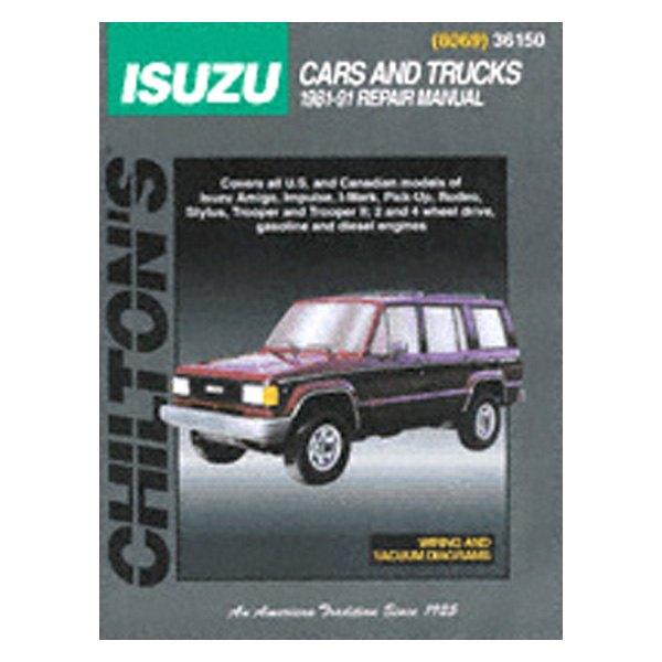 chilton isuzu trooper 1988 repair manual rh carid com Chilton Auto Repair Manual 2004 Jetta Mercedes Auto Repair Manual Diagrams
