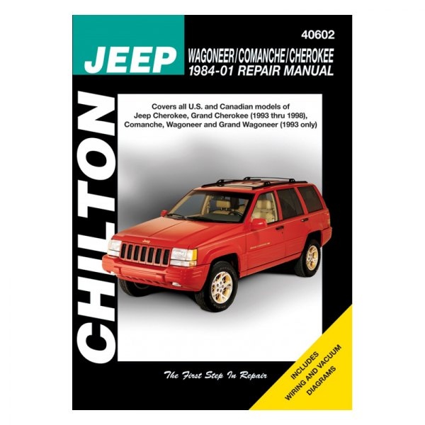 jeep repair diagrams chilton   40602 jeep cherokee comanche wagoneer repair  chilton   40602 jeep cherokee comanche