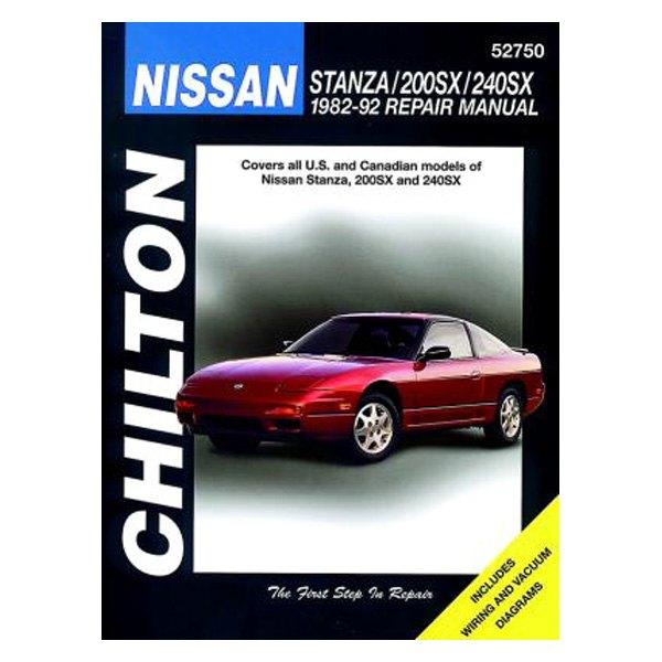 chilton 52750 nissan stanza 200sx 240sx repair manual rh carid com 1993 Nissan 240SX 1989 Nissan 240SX
