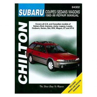 Chilton® - Subaru Coupes/Sedans/Wagons Repair Manual