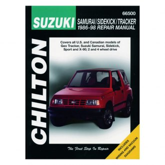 Chilton® - Suzuki Samurai/Sidekick/Tracker Repair Manual