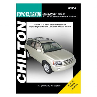 Chilton® - Toyota Highlander/Lexus RX Repair Manual