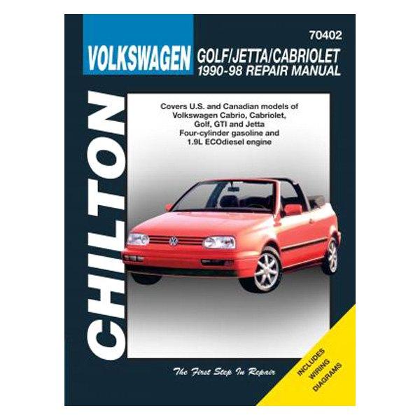 chilton� - volkswagen golf/jetta/cabriolet repair manual