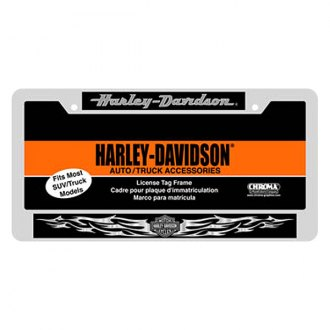 Chroma® - Harley-Davidson Style Domed Chrome License Plate Frame