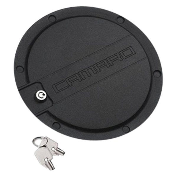 DefenderWorx® - Locking Black Gas Cap with Camaro Logo