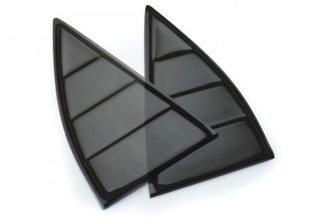 DefenderWorx® - Black Window Louvers