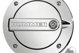 DefenderWorx® H2PPC08030 - Chrome Locking Gas Cap with Hummer Logo