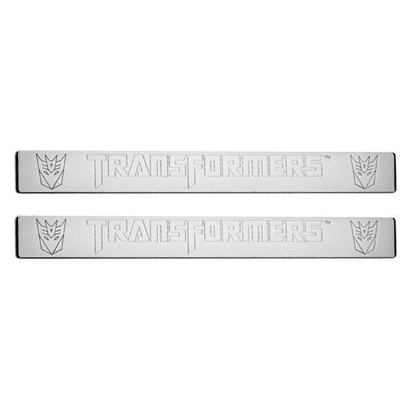 DefenderWorx® - Chrome Door Sills with Decepticon Logo