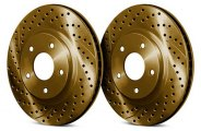 Chrome Brakes� - Drilled and Slotted Front Rotors