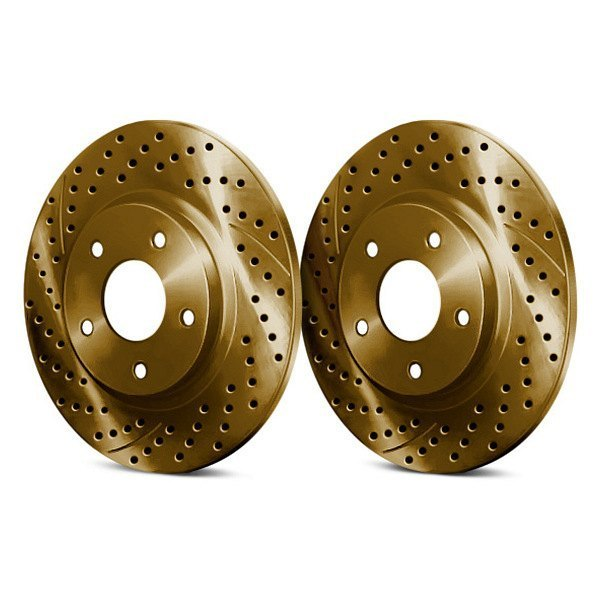 Chrome Brakes® - Drilled and Slotted 1-Piece Rear Brake Rotors