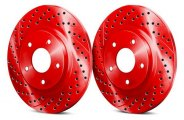 Chrome Brakes® - Solid Drilled and Slotted Front Rotors