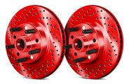 Chrome Brakes® - Vented Drilled and Slotted Front Hub and Rotor Assemblies