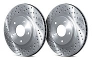 Chrome Brakes® CBX1.1109.0942C - Vented Drilled and Slotted Front Chrome Rotors (297mm OD, 5 Lug Holes, 33 Lbs)