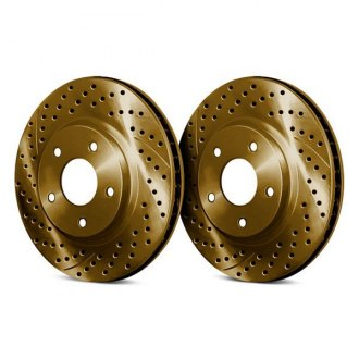 Chrome Brakes® - Drilled and Slotted Vented 1-Piece Brake Rotors