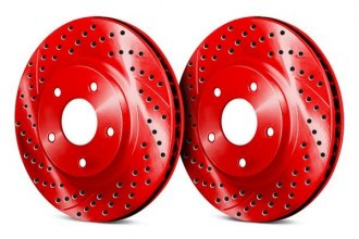Chrome Brakes® - Vented Drilled and Slotted Front Rotors