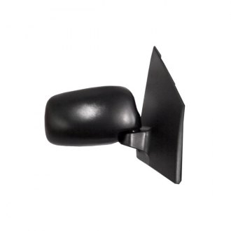 CIPA® - Original Style Passenger Side Black Manual Replacement Mirror (Foldaway, Convex Lens, Non-Heated)