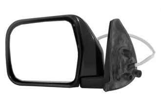 CIPA® - Original Style Driver Side Bright Chrome with Black Base Replacement Mirror