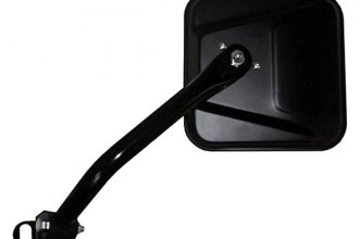 CIPA® - Driver Side Satin Black Jeep CJ-Style Replacement Non-Heated Mirror