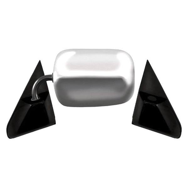 CIPA® - Chrome with Black Base Driver or Passenger Side Original Style Replacement Mirror