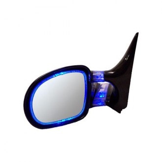 CIPA® - Optic Glow Driver and Passenger Side Blue Replacement Mirrors