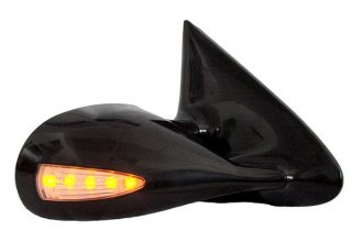 CIPA® - Optic LED Black Replacement Mirror with Amber Lighting