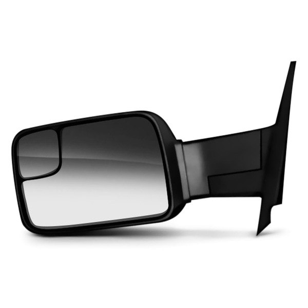 CIPA® - Driver Side Textured Black Magna Extendable Replacement Towing Heated Mirror