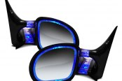 CIPA® - Driver and Passenger Side Paintable Optic Glow Replacement Non-Heated Mirror with Blue Lighting