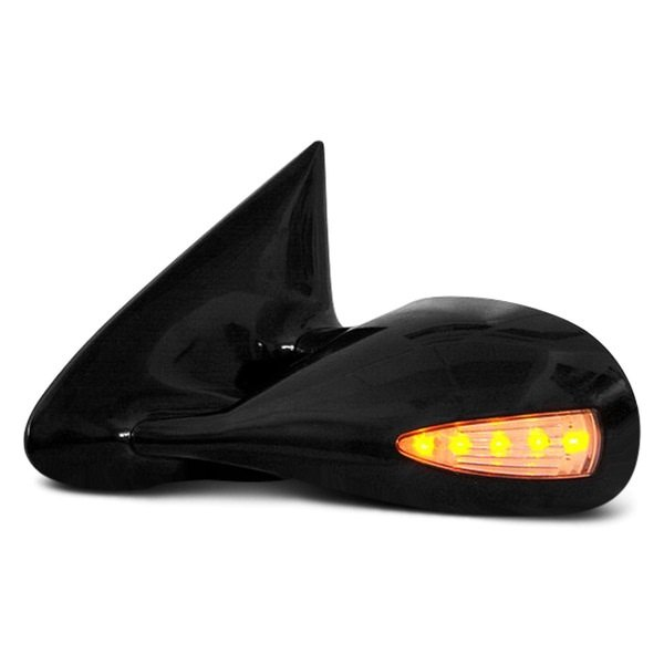 CIPA® - Driver and Passenger Side Paintable Optic LED Replacement Non-Heated Mirrors with Amber Lighting