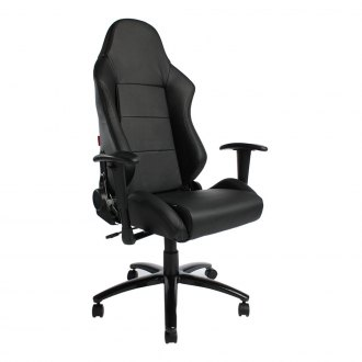 Cipher® - CPA5001 Series Black Leatherette Office Racing Seat