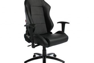 Cipher® CPA5001PBK - CPA5001 Series Black Leatherette Office Racing Seat