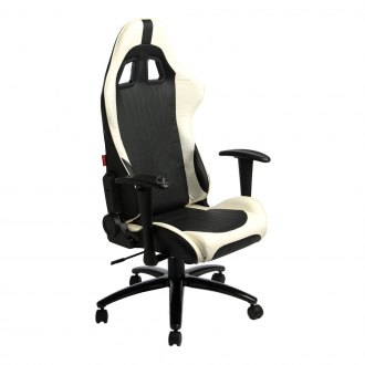 Cipher® - CPA5001 Series Black And White Leatherette Office Racing Seat