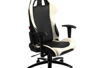 Cipher® CPA5001PBKWH - CPA5001 Series Black And White Leatherette Office Racing Seat