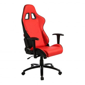 Cipher® - CPA5001 Series Black and Red Leatherette Office Racing Seat