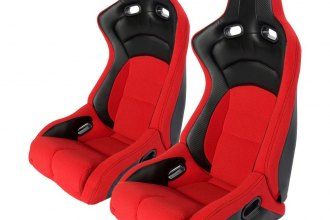 Cipher Auto® - CPA2002 Viper Series Red Cloth with Carbon Leatherette Inserts Racing Seat