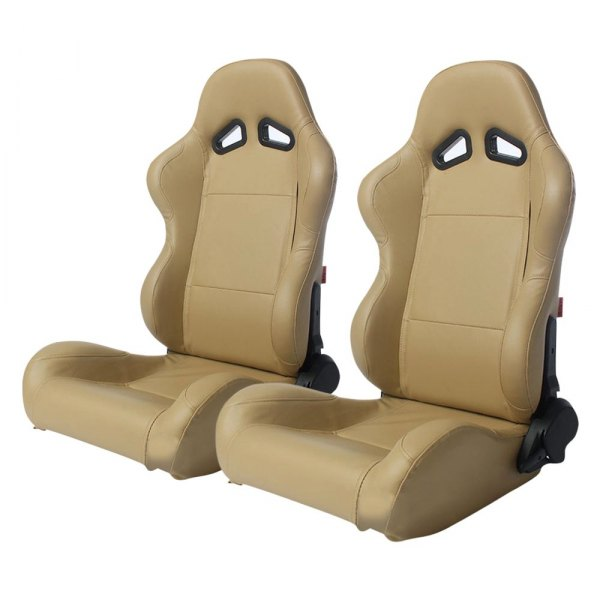 Cipher® - CPA1001 Series Beige Leatherette Racing Seats