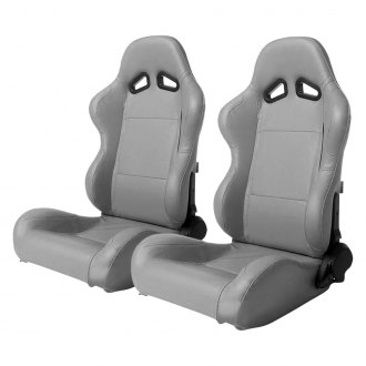 Cipher® - CPA1001 Series Gray Leatherette Racing Seats
