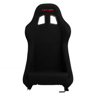 Cipher® - CPA1005 Black Cloth Full Bucket Non Reclineable Racing Seat