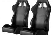 Cipher® - CPA1007 Series Black Carbon Fiber PVC Racing Seats
