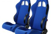 Cipher® - CPA1007 Series Blue Cloth Racing Seats