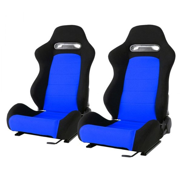 Cipher® - CPA1013 Series Black Cloth with Blue Insert Racing Seats