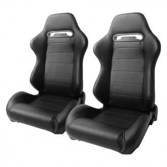 Cipher® - CPA1013 Series Black Leatherette Racing Seats
